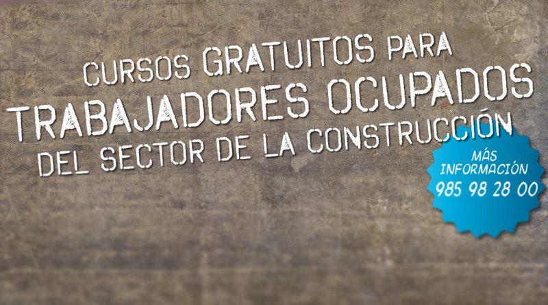 Cursos gratuitos para trabajadores ocupados del sector de la construcción