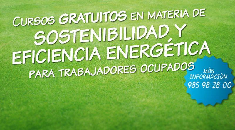 Cursos gratuitos en materia de sostenibilidad y eficiencia energética para trabajadores ocupados
