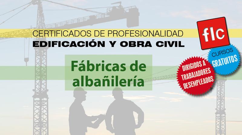 Curso de fábricas de albañilería para desempleados/as